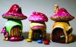 Pilz-Fee Häuser aus niedlichen kleinen Gläser