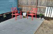 Aufbau einer einfachen Terrasse Verwendung Pflastersteine