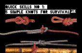 Schnelle Fähigkeiten #1: 5 einfache Knoten für das Überleben