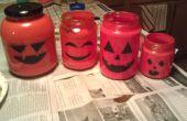 Last Minute Halloween Glas Flasche Laterne