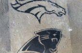 Super Bowl Fan stolz temporäre Schablone