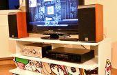 Ein PC, eingeschlossen in einem IKEA Benno TV-Möbel