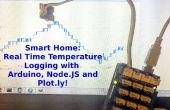 Echtzeit-Temperatur-Logging mit Arduino, NodeJS und Plotly!