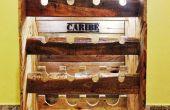 Rustikale Wein rack aus Paletten für 16 Flaschen