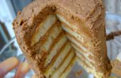 Wie erstelle ich eine Mini-Torte mit übrig gebliebenen Pfannkuchen