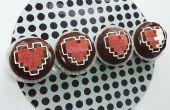 Zelda Herz Container Cupcakes