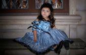 Tim Burton Alice im Wunderland blau Teekanne Kleid.
