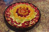 Frisches Obst-Torte mit Mandeln Graham Kruste