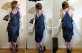 3 Seidentücher und 3 Nähte verwandeln sich in ein Kleid im Stil der 1920er Jahre Taschentuch