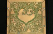 Geätzt Kupfer Board Valentine Tag Kunst w/LED