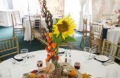Herbst-Themen Einmachglas Hochzeit Mittelstücke