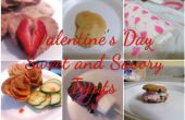 Valentinstag-süßen und herzhaften Leckereien