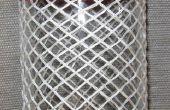 Turks Head-Knoten auf einer Flasche