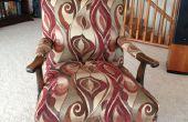 Einen Stuhl aus den Knochen reupholster