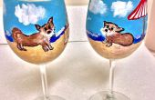 Klar lackiert Susan schafft A Custom Design einerseits Weingläser