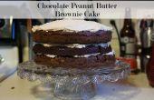 Naked Chocolate Peanut Butter Brownie Kuchen