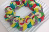 Regenbogen-Biskuitroulade