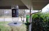 Vogelhäuschen aus recycelten Trinkflasche.