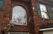 Skelette, die Ihr Haus Kletterwände