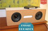 DIY Zeitungsständer Transformation zu einem Kvissle Buchstütze Audio Boom Box