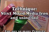 Verwendung von Mixed-Media-Eisen für Folie & Applique