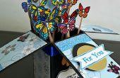 Karte in einem Box - Schmetterlinge