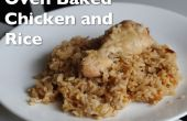 Ofen gebackenes Huhn und Reis