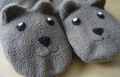 Nähen Sie warme und bequeme Hausschuhe Teddy Bear