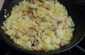Curry-Speck Steak Reis