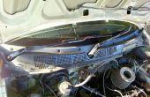 Wartung des Scheibenwischer-Motors auf einer Honda civic 99