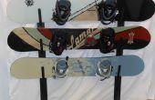 Malerische Metall Snowboard Rack