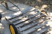 Palette als Garten Wagen/Anhänger