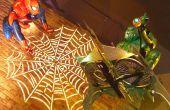 Lebensgroße Spider-Man unter dem Motto Halloween Display