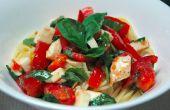 Tomaten, Basilikum und Mozzarella gekühlte Pasta-Rezept