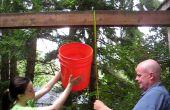 9-stufige Rube Goldberg-Stil Eiskübel Herausforderung