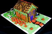 Kürbis Gewürz Brot Halloween Haus