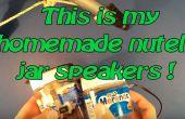 Hausgemachte tragbare Nutella-Glas Lautsprecher!