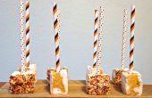 Pumpkin Spice wirbelte Marshmallow Pops