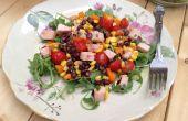 Geräuchert, Türkei, schwarze Bohnen, Paprika und Mais Salat