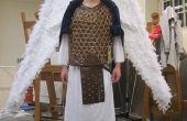 Krieger Erzengel Kostüm mit Kabel kontrolliert Flügel
