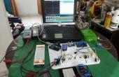 Mobile, modulare Elektronik Arduino Experimentatoren und Reparatur Labor eingerichtet.