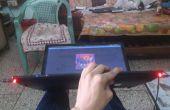 Mod-Laptop mit Musik reaktive LEDs