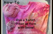 Schnee, färben! Färben, Tshirt, Fasern oder Garn mit Schnee
