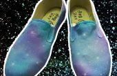 DIY-Galaxy Schuhe Lack mit hausgemachten Acryl-Spray