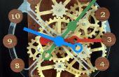 Holz-Getriebe Uhr mit Stepper Motor Antrieb