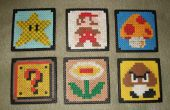Super Mario Bros Getränke Untersetzer (Perler Beads)