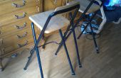 Reparatur und Verbesserung der Beine eines Stuhls: erhöhte Platzbedarf