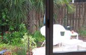 Regen-Kette an Dachrinne
