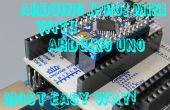 Programmierung des Arduino Pro Mini mit Arduino Uno und ArduShield - ohne die Kabel