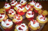 Strawberry Swirl Cupcakes